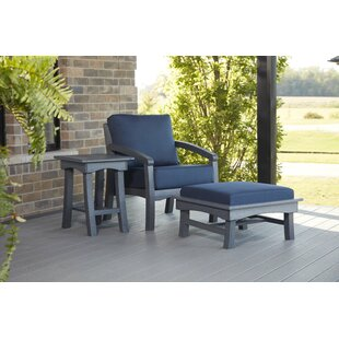 Clabaugh Patio Sofa with Cushions by Highland Dunes