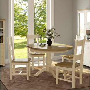 Extendable Dining Set With 4 Chairs By August Grove