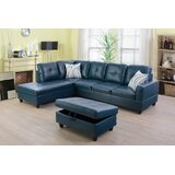 Maumee 103.50 Sectional with Ottoman by Winston Porter