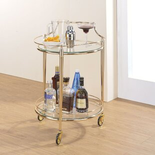 Darrel Metal Framed Bar Cart
