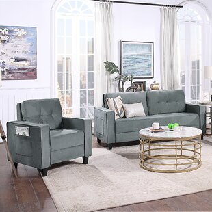 Sectional Sofa Set Morden Style Couch Furniture Upholstered Sectional Armchair, Loveseat And Three Seat For Home Or Office (1+2 Seat) by Latitude Run