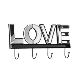 Mirrored Wall Mounted Coat Rack By Happy Larry