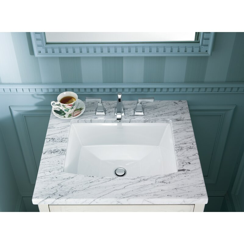 archer ceramic rectangular undermount bathroom sink with overflow rh wayfair com white undermount rectangular bathroom sink with overflow Undermount Bathroom Sink Sizes