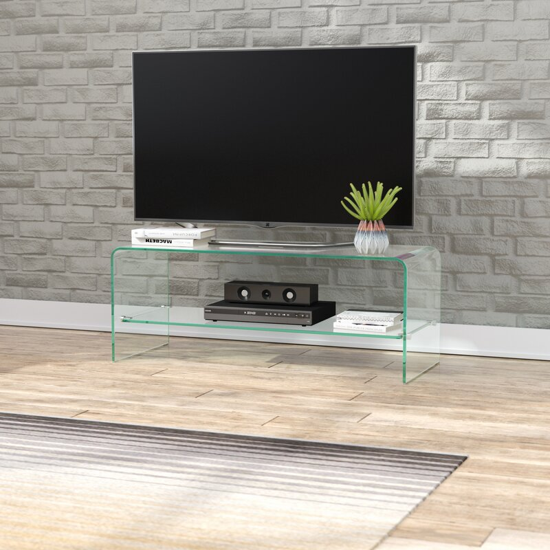 """Clear Calla Tv Stand For T Vs Up To 39"""" by Wade Logan"""