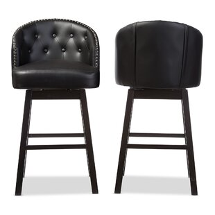 Chaim 30.62 Swivel Bar Stool (Set of 2)