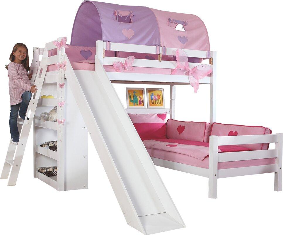 relita l f rmiges etagenbett laura mit rutsche 90 x 200. Black Bedroom Furniture Sets. Home Design Ideas