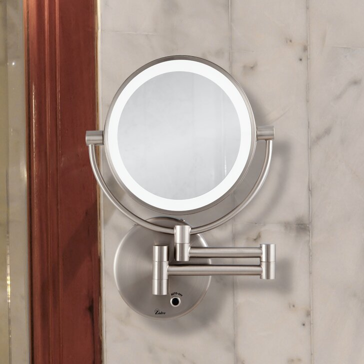 Wall Mounted Mirror With Lights varick gallery howell lighted wall mount mirror & reviews | wayfair