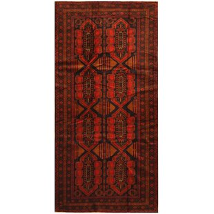 One-of-a-Kind Ebron Hand-Knotted 4'8 x 9'2 Wool Red/Black Area Rug ByBloomsbury Market