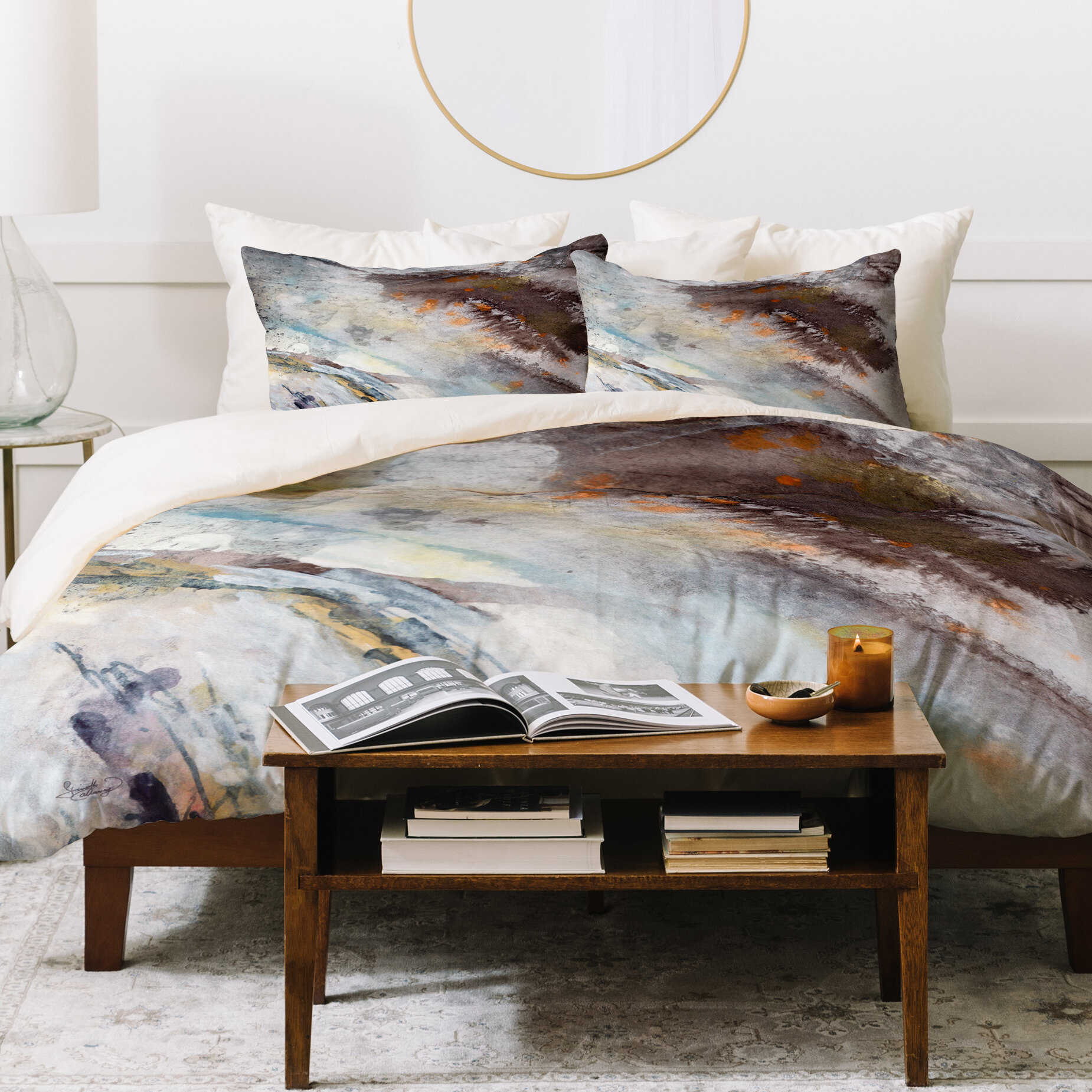 East urban home ginette fine art rustic duvet cover set wayfair ca