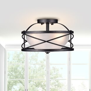 Bowe 3-Light Semi Flush Mount by Rosdorf Park