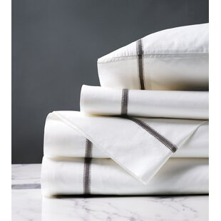 Hobie Percale 200 Thread Count Solid Color 100% Cotton Sheet Set
