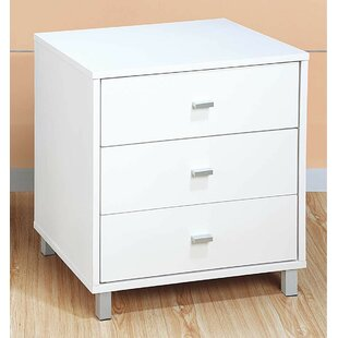Loyce 3 Drawer Nightstand