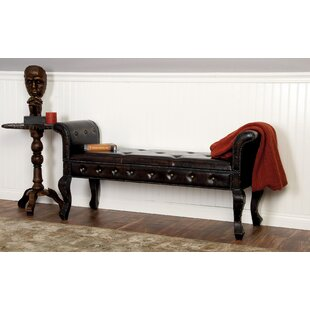 Alcott Hill Wiley Faux Leather Bench