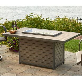 The Outdoor GreatRoom Company Brooks Composite Propane Fire Pit Table