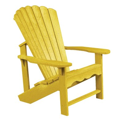 Alanna Plastic Adirondack Chair Color: Yellow by Beachcrest Home