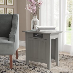 Glenni End Table by Highland Dunes