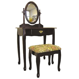 Victoria Vanity Set with Mirror by ORE Furniture