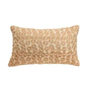 Salma Metallic Embroidery 100% Cotton Throw Pillow by Blissliving Home