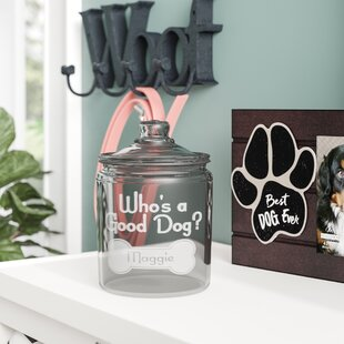 Personalized Who's a Good Dog 2 qt. Pet Treat Jar