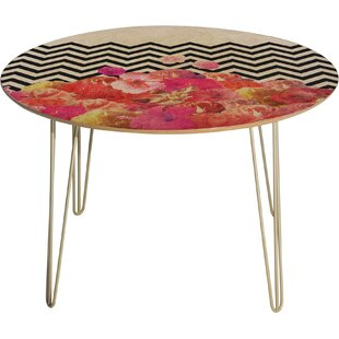 Bianca Chevron Flora 2 Dining Table Deny Designs