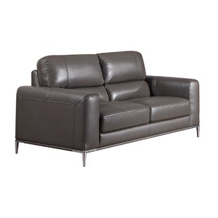 Hennis Leather Loveseat