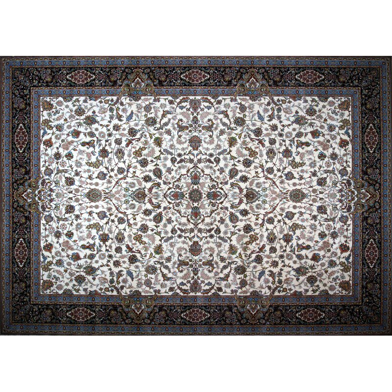 Rug Tycoon Hand Look Persian Wool Ivory Red Green Area Rug Wayfair