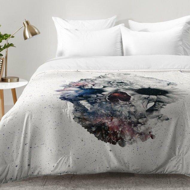 East Urban Home Floral Skull Comforter Set