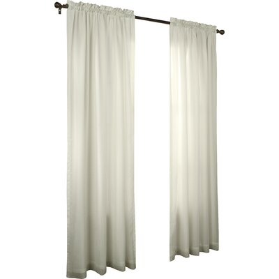 Charlton Home Villareal Voile Single Curtain Panel Size per Panel: 54 W x 63 L, Color: Ivory