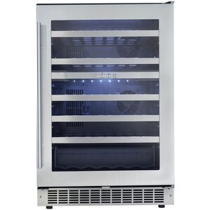 51 Bottle Silhouette Dual Zone Built-In Wine Cooler by Danby
