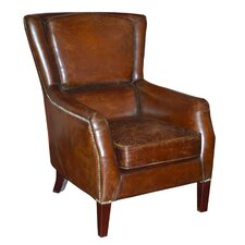 Cerna Leather Club Chair by Darby Home Co