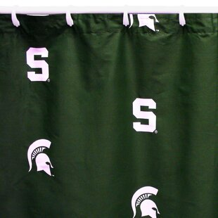 NCAA Michigan State Cotton Printed Single Shower Curtain by College Covers