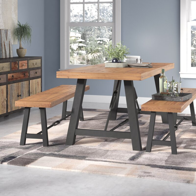 Trent Austin Design Lebanon 3 Piece Solid Wood Dining Set Reviews