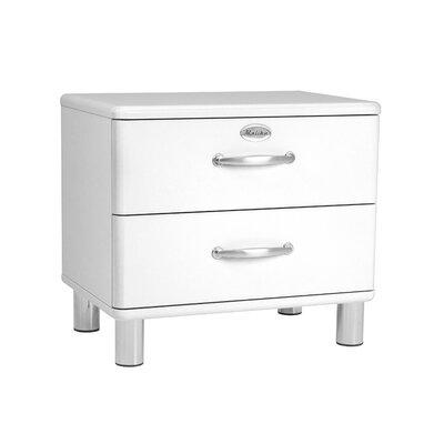 Nachttisch Malibu mit 2 Schubladen | Schlafzimmer > Nachttische | Tenzo