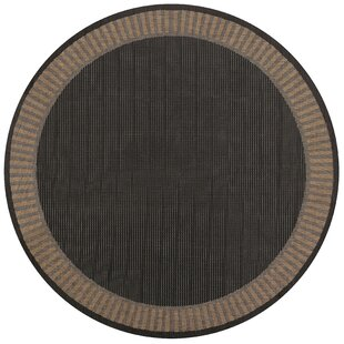 Zachary Black Wicker Stitch  Rug by Andover Mills