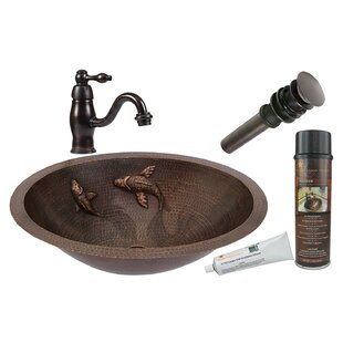 Bargain Metal Oval Undermount Bathroom Sink with Faucet ByPremier Copper Products