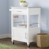 Elsie Kitchen Cart with Granite Top by Andover Mills™