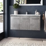 Lanza 40 Wall-Mounted Single Bathroom Vanity Set by Orren Ellis