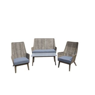 Review Hunsicker 4 Seater Sofa Set