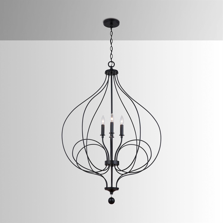 Gracie Oaks Giannini 4 Light Candle Style Geometric Chandelier Wayfair