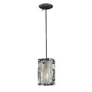 Metro Branches Quadrato 1-Light Square/Rectangle Pendant by Meyda Tiffany