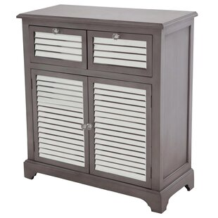 Summit Mirrored 2 Drawer Accent Cabinet