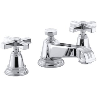 Kohler Pinstripe Widespread Bathroom Sink Faucet with Cross Handles