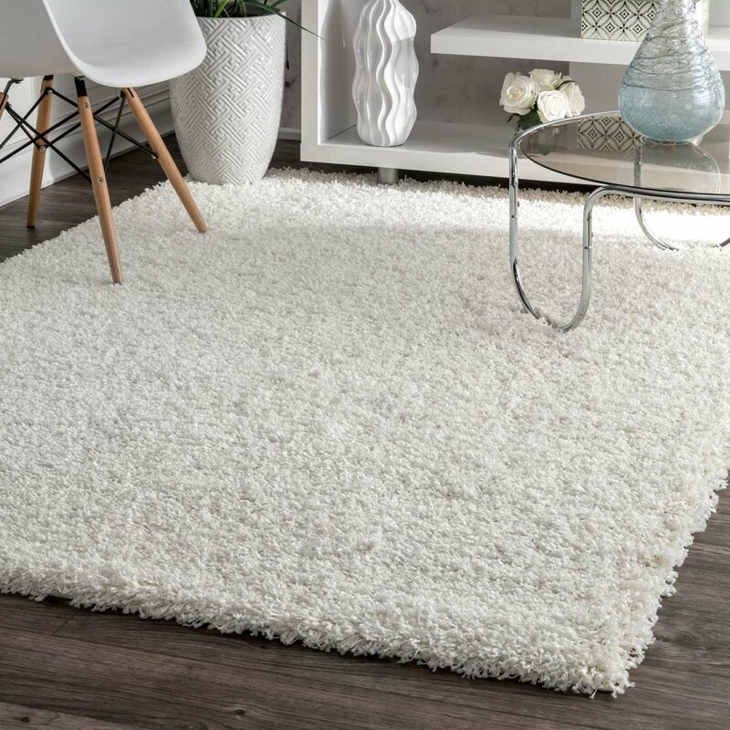 welford white area rug & reviews | birch lane