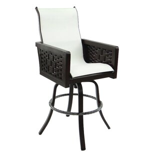Leona Spanish Bay Sling Swivel Patio Bar Stool