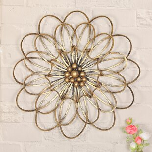 f97f55370a Flower Urban Design Metal Wall Décor. by Adeco Trading