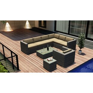Harmonia Living District 9 Piece Sectional Set with Cushions