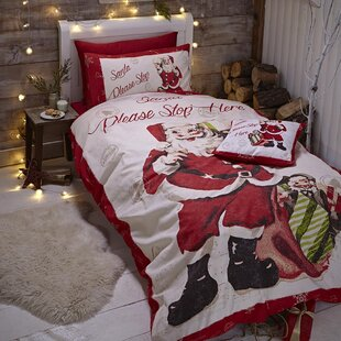 Retro Santa Duvet Set by Catherine Lansfield