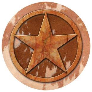 Texas Lone Star Occasions Coaster (Set of 4)  sc 1 st  Wayfair & Rustic Texas Star | Wayfair