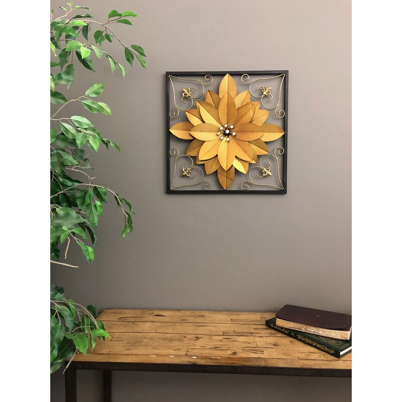 Winston Porter Metal 3 Dimensional Flower Wall Décor | Wayfair