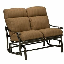 Tropitone Montreux Glider Bench with Cushions